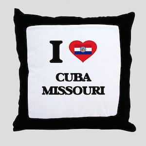 I love Cuba Missouri Throw Pillow