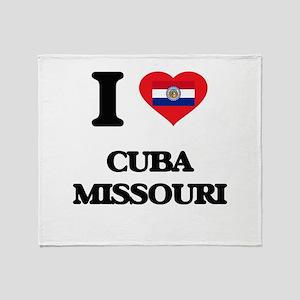 I love Cuba Missouri Throw Blanket