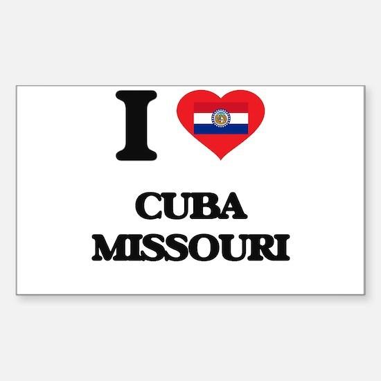 I love Cuba Missouri Decal