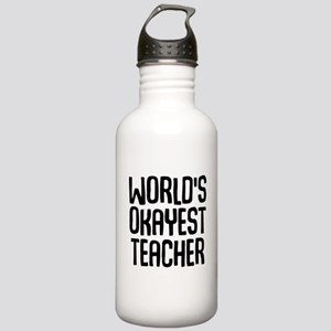 World's Okayest Teache Stainless Water Bottle 1.0L