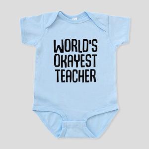World's Okayest Teacher Baby Light Bodysuit