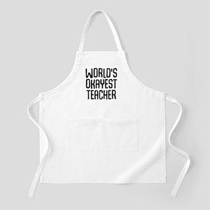 World's Okayest Teacher Light Apron