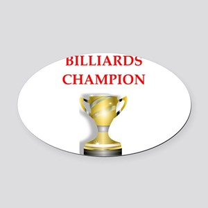 billiards joke Oval Car Magnet