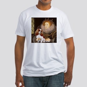 Queen Elizabeth I & Cavalier Fitted T-Shirt