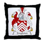 Singleton Family Crest Throw Pillow