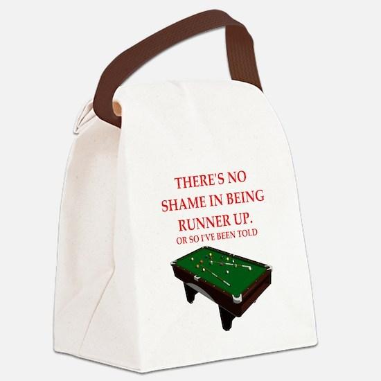 billiards joke Canvas Lunch Bag
