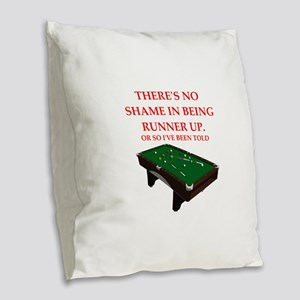 billiards joke Burlap Throw Pillow