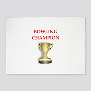 bowling joke 5'x7'Area Rug