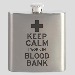 Keep Calm Blood Bank Flask
