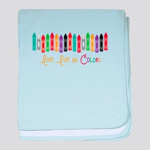 Live In Color baby blanket