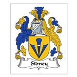 Sidney Family Crest Small Poster