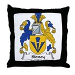 Sidney Family Crest Throw Pillow