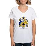 Sidney Family Crest Women's V-Neck T-Shirt