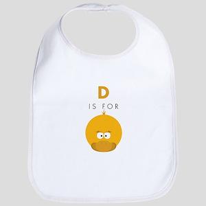 D Is For Duck Bib