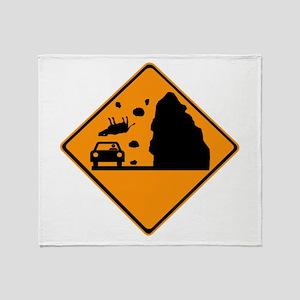 Cows Falling! Throw Blanket