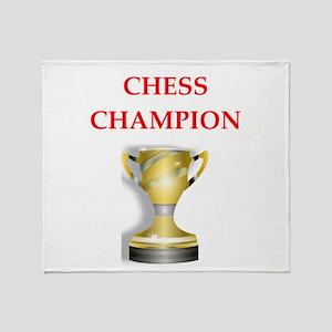 chess joke Throw Blanket