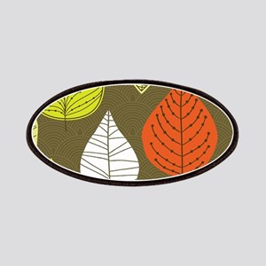 Leaves on Green Mid Century Modern Patch