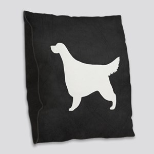 Gordon Setter Burlap Throw Pillow