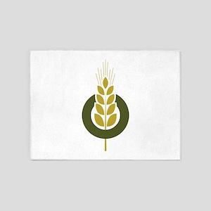 Gluten Grain Decal 5'x7'Area Rug