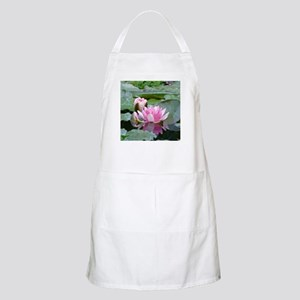 Pink Water Lilies Geometric Floral Light Apron
