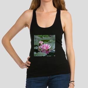 Pink Water Lilies Geometric Floral Tank Top