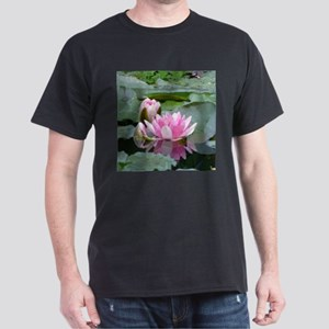 Pink Water Lilies Geometric Floral T-Shirt