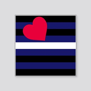 "Leather Pride Flag Square Sticker 3"" x 3"""