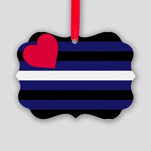 Leather Pride Flag Picture Ornament