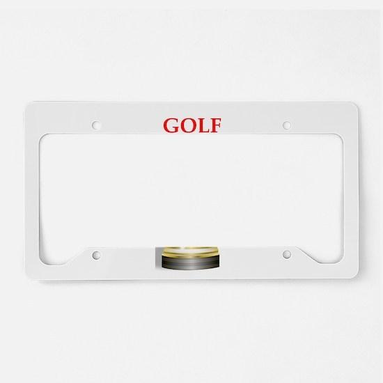 golfing joke License Plate Holder