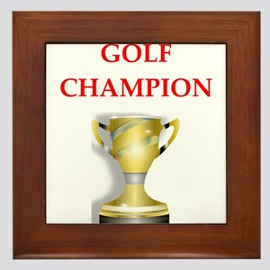 golfing joke Framed Tile