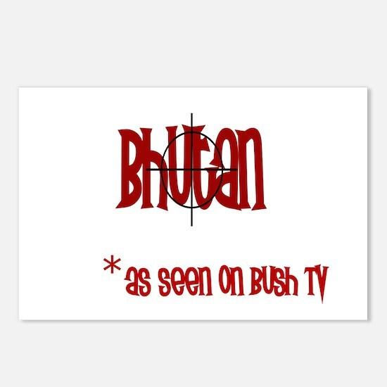 Bhutan on Bush Tv Postcards (Package of 8)