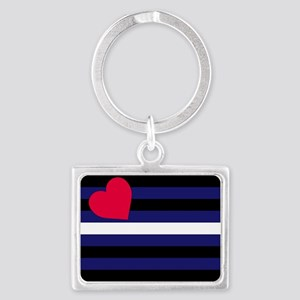 Leather Pride Flag Landscape Keychain