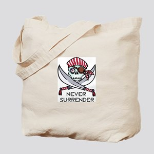 Never Surrender Tote Bag