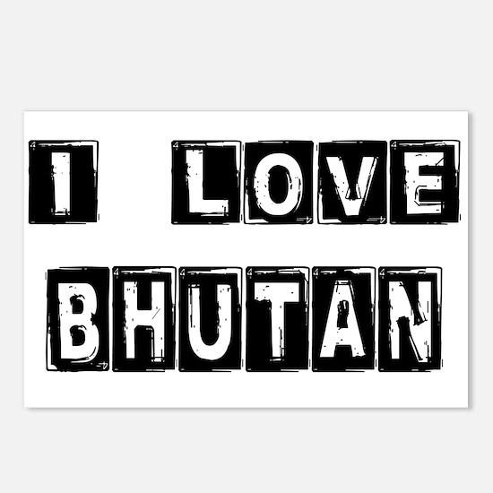 I Block Love Bhutan Postcards (Package of 8)