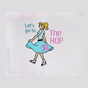 Let's Go To The Hop Throw Blanket