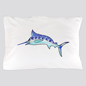 Blue Marlin Pillow Case