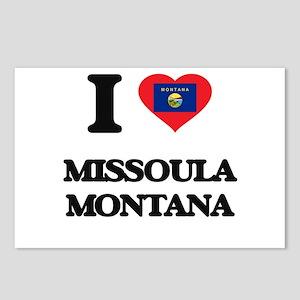 I love Missoula Montana Postcards (Package of 8)