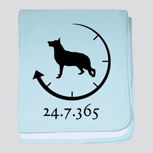 German Shepherd baby blanket