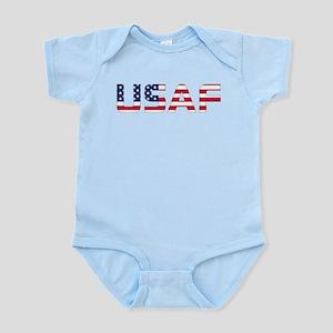 USAF American Flag Baby Light Bodysuit