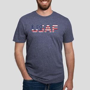 USAF American Flag Mens Tri-blend T-Shirt