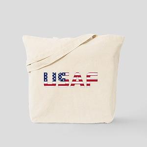 USAF American Flag Tote Bag