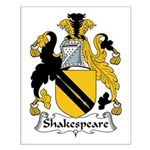 Shakespeare Family Crest Small Poster