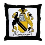 Shakespeare Family Crest Throw Pillow