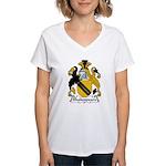 Shakespeare Family Crest Women's V-Neck T-Shirt