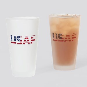 USAF American Flag Drinking Glass