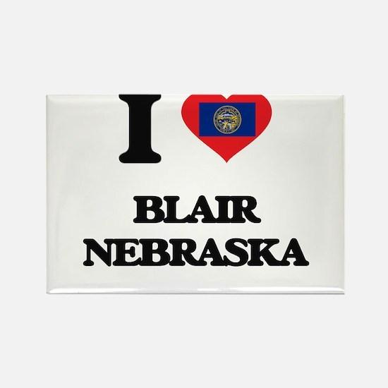I love Blair Nebraska Magnets