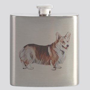 Tricolor Pembroke Welsh Crogi Flask