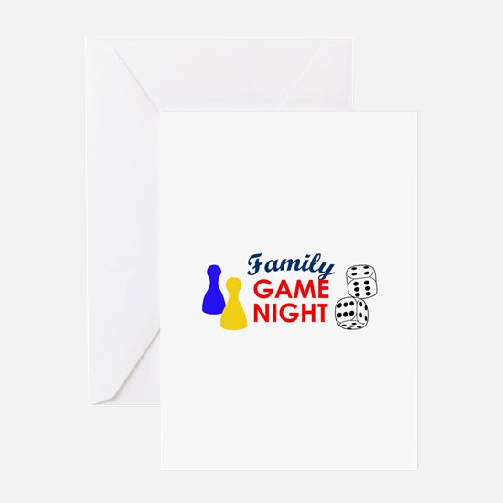 Family Game Night Greeting Cards