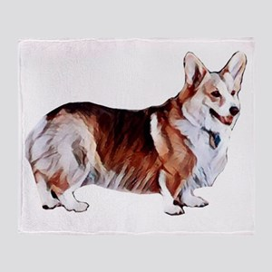 Tricolor Pembroke Welsh Crogi Throw Blanket