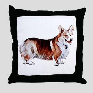 Tricolor Pembroke Welsh Crogi Throw Pillow